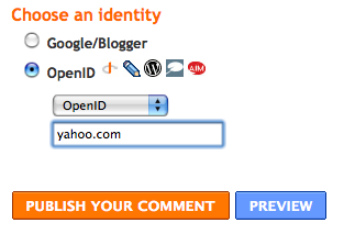 Logging into Blogger using my yahoo.com OpenID